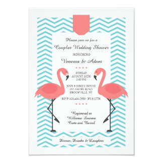 Scarlet Flamingos Invitation