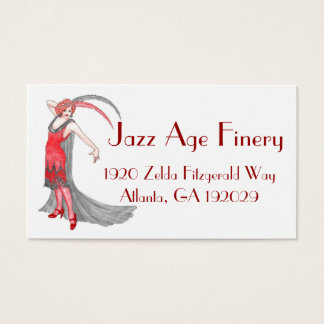 Scarlet Flapper Business Card