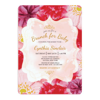 Scarlet Floral Invitation
