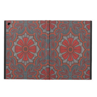 """""""Scarlet flower"""" pattern in gray, red and orange iPad Air Cases"""