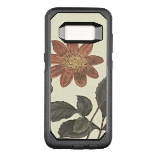 Scarlet Flowered Dahlia Botanical Illustration OtterBox Commuter Samsung Galaxy S8 Case