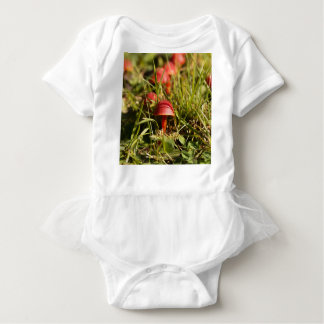Scarlet hood fungi, Hygrocybe coccinea Baby Bodysuit