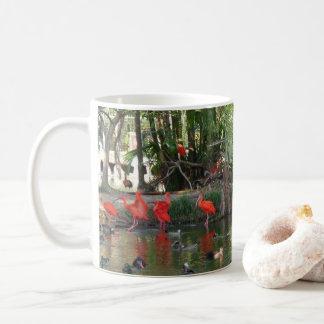 Scarlet ibis coffee mug