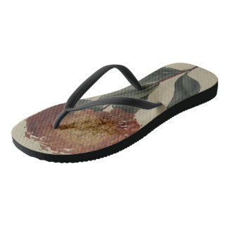 Scarlet Ixora Flip Flops