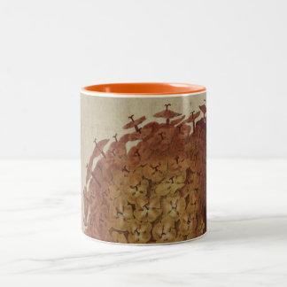 Scarlet Ixora Two-Tone Coffee Mug