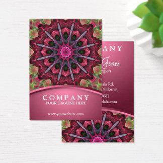 Scarlet Lace Starburst Mandala Business Card
