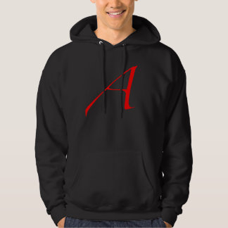 Scarlet letter A (for Atheist) Hoodie