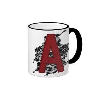 Scarlet Letter A Mugs