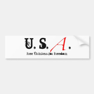 Scarlet Letter small, U. S., ., Free Thinkers f... Bumper Sticker