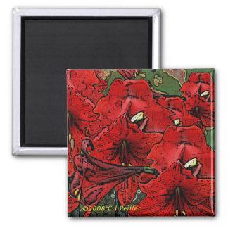 'Scarlet Lilies' Magnet