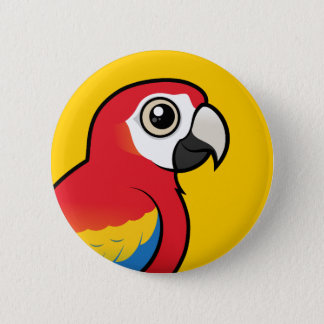 Scarlet Macaw 2 Inch Round Button