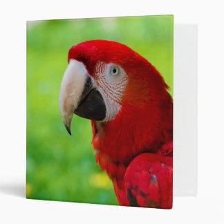 Scarlet Macaw Ara Macao American Parrot Vinyl Binders
