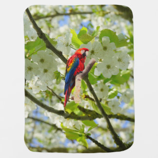 Scarlet Macaw Baby Blanket