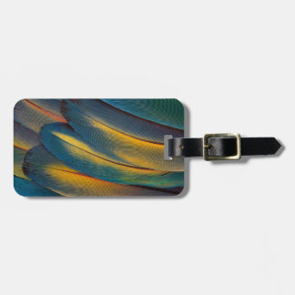 Scarlet Macaw feather close up Bag Tag