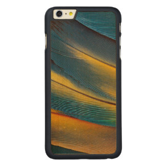 Scarlet Macaw feather close up Carved® Maple iPhone 6 Plus Case