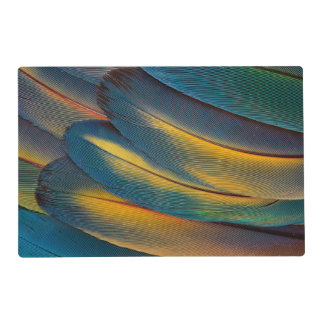 Scarlet Macaw feather close up Laminated Placemat