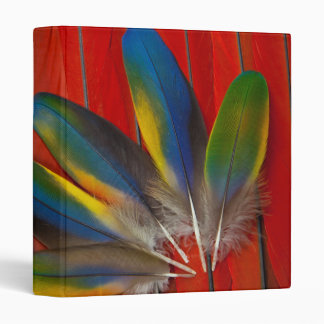 Scarlet Macaw Feather Design Binder