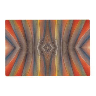 Scarlet Macaw feather design Laminated Placemat