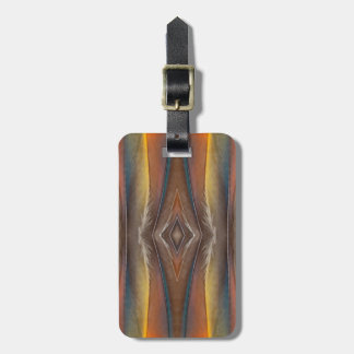 Scarlet Macaw feather design Luggage Tag