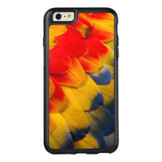 Scarlet Macaw feathers close-up OtterBox iPhone 6/6s Plus Case