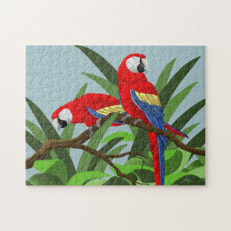 Scarlet Macaw Jigsaw Puzzles