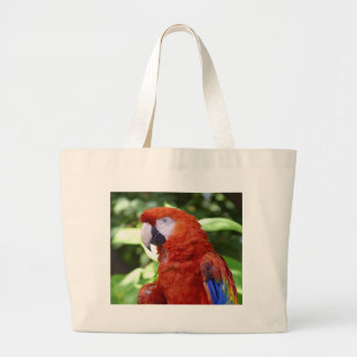 Scarlet Macaw Large Tote Bag
