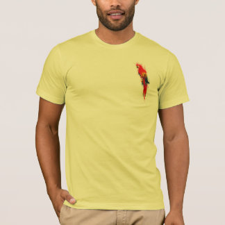 Scarlet Macaw Painted T-Shirt