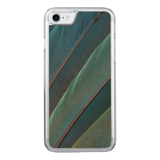 Scarlet macaw parrot feather carved iPhone 8/7 case