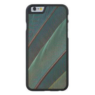 Scarlet macaw parrot feather carved® maple iPhone 6 case