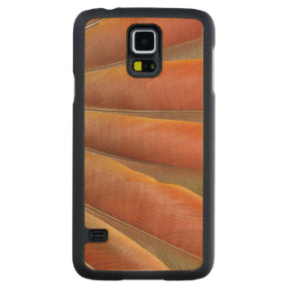 Scarlet Macaw Red-Orange Feathers Carved Maple Galaxy S5 Case