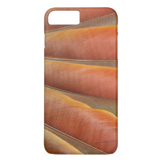 Scarlet Macaw Red-Orange Feathers iPhone 7 Plus Case