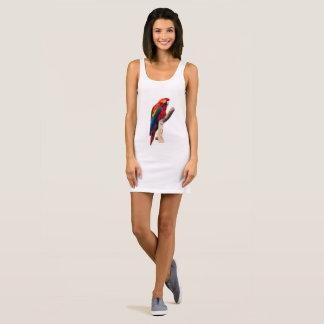 Scarlet Macaw Sleeveless Dress