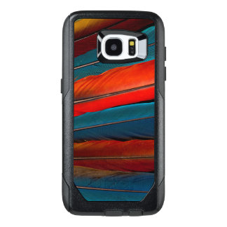 Scarlet Macaw Tail Feathers OtterBox Samsung Galaxy S7 Edge Case