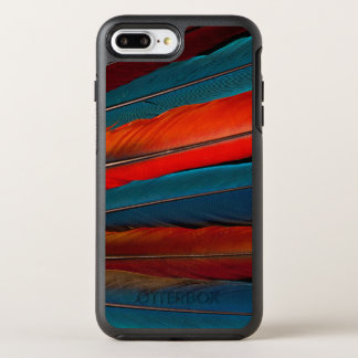 Scarlet Macaw Tail Feathers OtterBox Symmetry iPhone 8 Plus/7 Plus Case