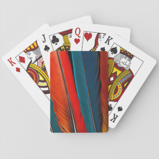 Scarlet Macaw Tail Feathers Playing Cards