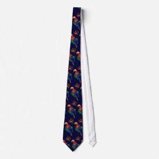Scarlet Macaw Tropical Necktie