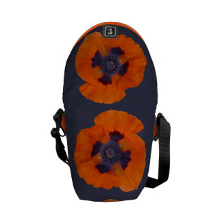 Scarlet Orange Poppy 1 Courier Bags