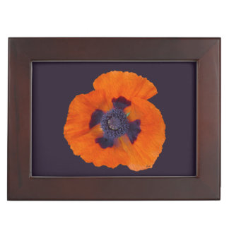 Scarlet Orange Poppy 1 Keepsake Box