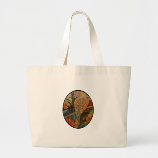 Scarlet Parrot Large Tote Bag