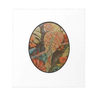 Scarlet Parrot Notepad