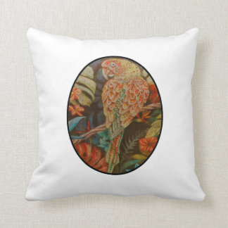 Scarlet Parrot Throw Pillow