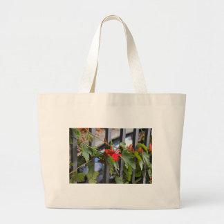Scarlet Passion Flower Large Tote Bag