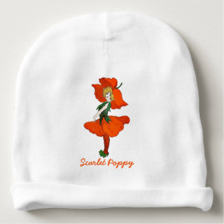 Scarlet Poppy Vintage Cute Flower Child Baby Girl Baby Beanie