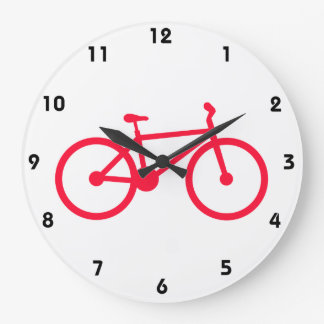 Scarlet Red Bicycle Wall Clock
