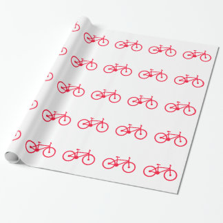 Scarlet Red Bicycle Wrapping Paper
