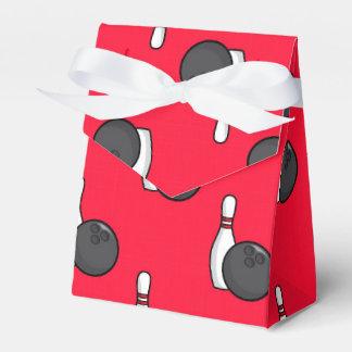 Scarlet Red Bowling Pattern Favor Box
