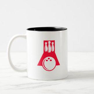 Scarlet Red Bowling Two-Tone Coffee Mug