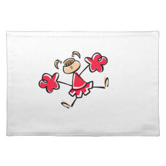 Scarlet Red Cheerleader Placemats