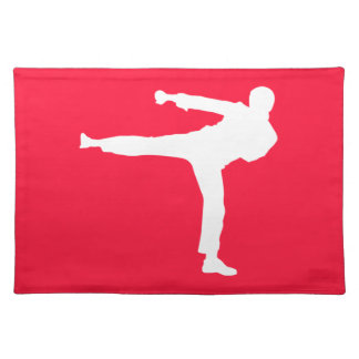 Scarlet Red Martial Arts Place Mat