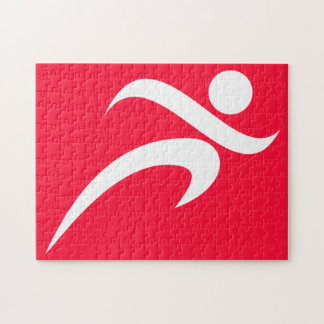 Scarlet Red Running Jigsaw Puzzle